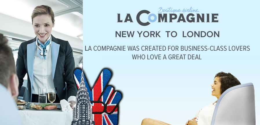 La Compagnie new York to London business class only air service