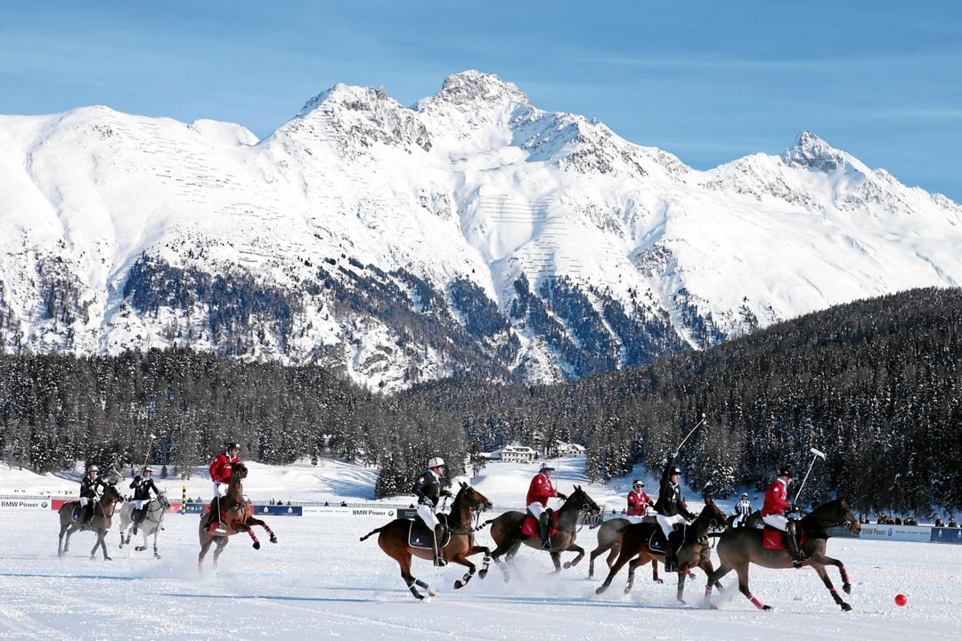 Snow Polo in action