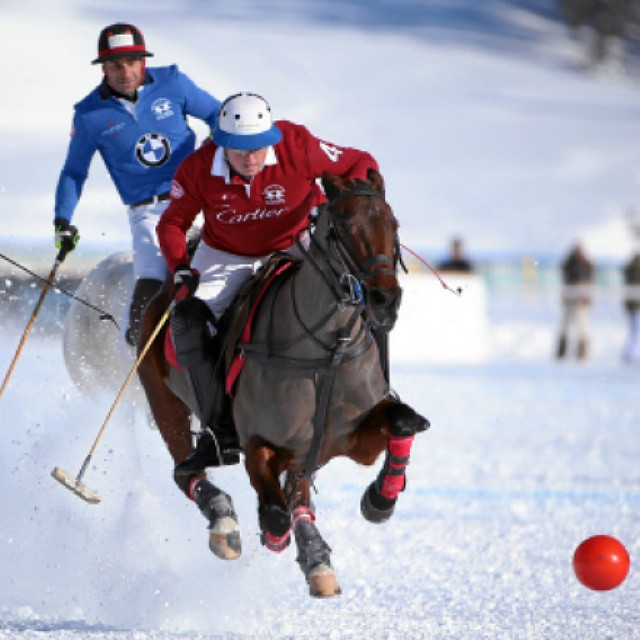 Snow Polo action - Team Cartier leads the way