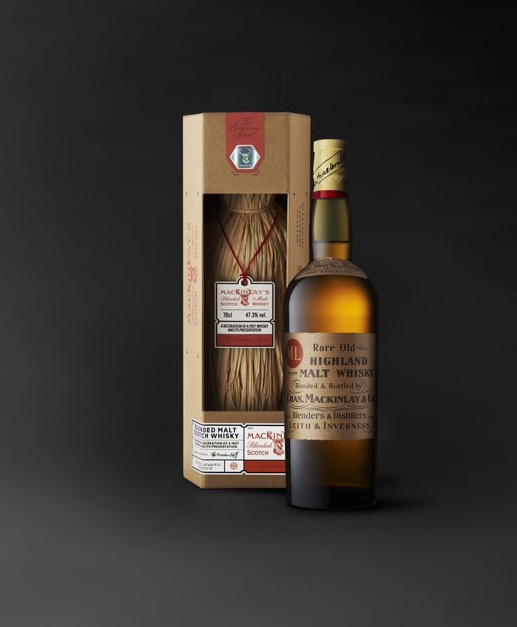 Mackinlay's Rare Old Highland Malt carefully re-created as the original malt  whisky  shipped to Antarctica in 1907 by the explorer Ernest  Shackleton