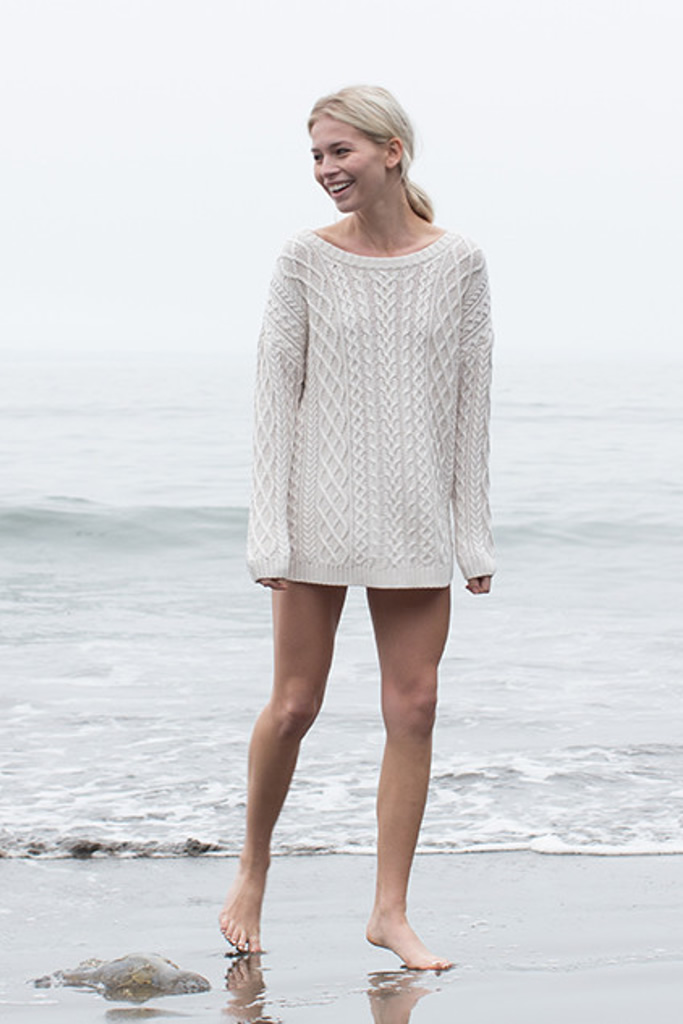 Shirttail Cable Tunic