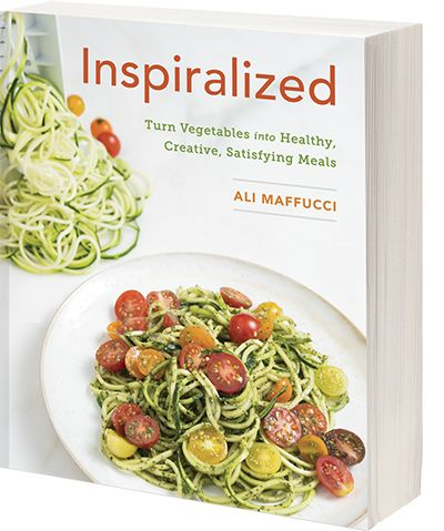 with this recipe book You can make some awesome meals with the spiralizer, replacing pasta with vegetable noodles.