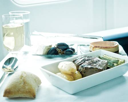 The flight menus have been created by renowned French chef Christophe Langrée, and – of course – champagnes and wines are on the drinks list.