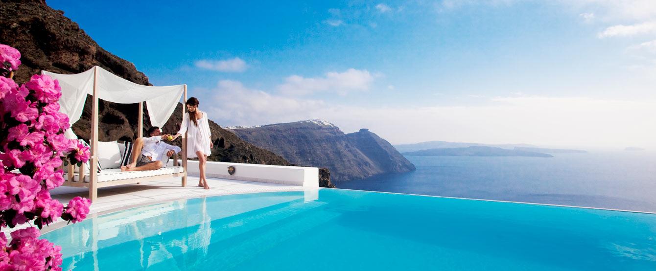 Grace Hotel Pool Overlooking the Aegean Sea