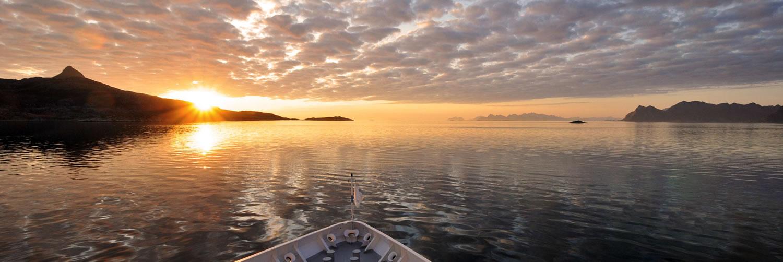 Sunset on Siversea Explorer