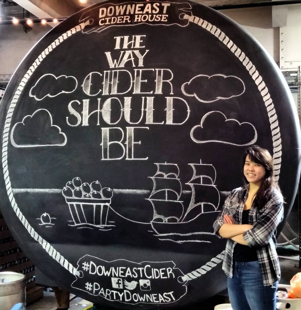 Downeast Cider ChalkMural created by  Maria Liang
