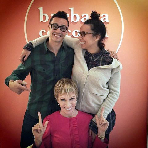 Barbara Corcoran with Pipsnacks founders. Photo:  pipsnacks instagram