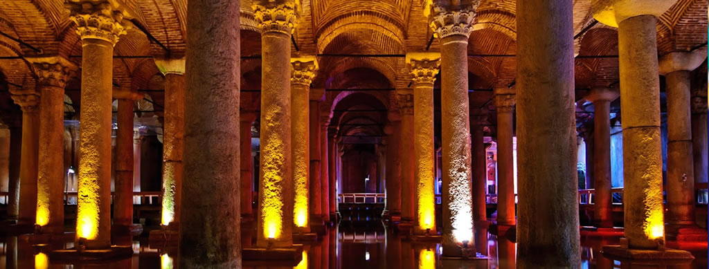 located right across the street from the entrance to Aya Sofya and the Blue Mosque. The Basilica Cistern is the largest of the ancient underground water cisterns found across Istanbul and is really cool to walk around literally