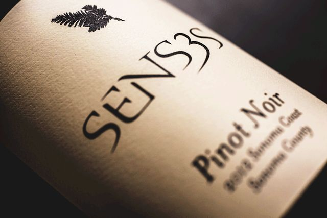 Senses Pinot Noir Sonoma Coast 2012. This is a hard to find bottle of wine to buy but easy to enjoy.