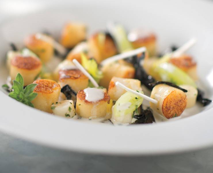 Parisian Gnocchi With Wild Mushrooms.  a Suggested Food Pairing recipe, by Chef Michael Mina,, Bardot Brassiere,  with senses wines' 2012 Sonoma Coast Pinot noir