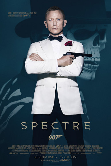 Spectre  the latest 007 james bond movie opens november 4th in the USA.
