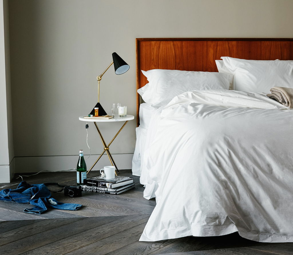 SMOOTH, CRISP EGYPTIAN COTTON PERCALE, HAND FINISHED WITH THE BEST ITALIAN CRAFTSMANSHIP, BREATHABLE FOR THE PERFECT NIGHT'S SLEEP