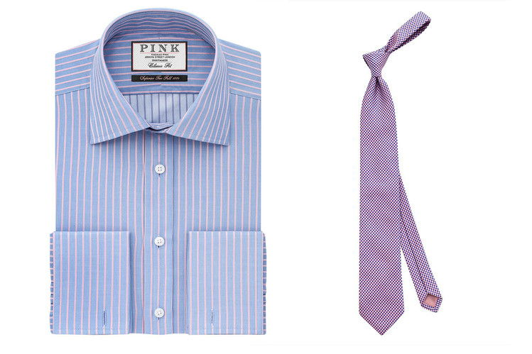 BY Thomas Pink, the Gibson classic fit shirt and Thomas Pink Warren Check Tie