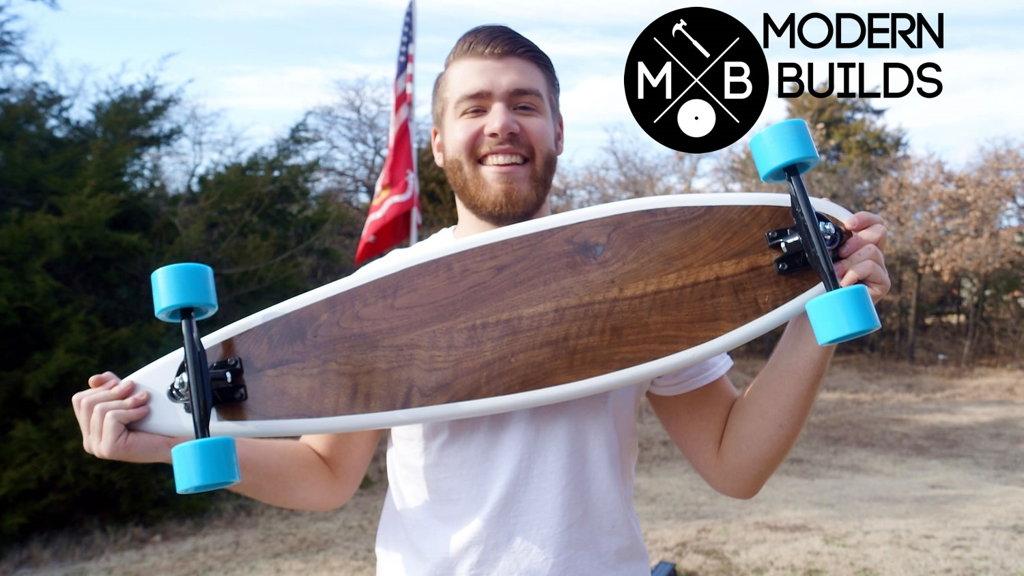 handmade longboard by mike montgomery of modern builds -  www.modernbuilds.com