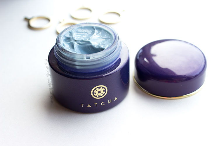 kNOWN FOR  ITS SKIN SOOTHING AND ANT-AGING ABILITIES THE TATCHA indigo body-cream POSSESSES PROTECTION AND HEALING PROPERTIES
