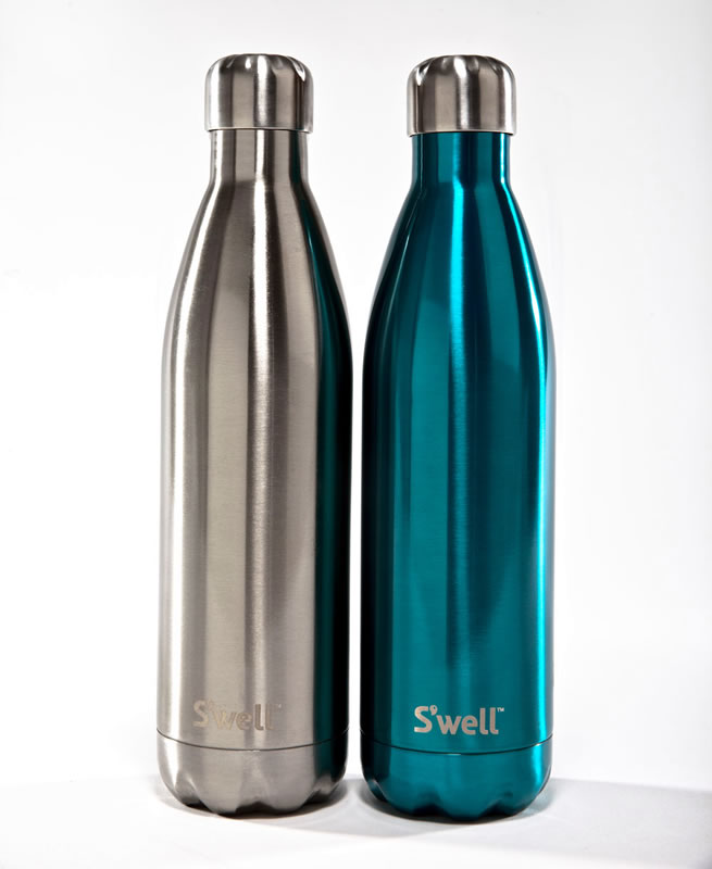 a Swell bottle looks cool, made out of stainless steel and keeps your drink hot for 12 or cold for 24 hours
