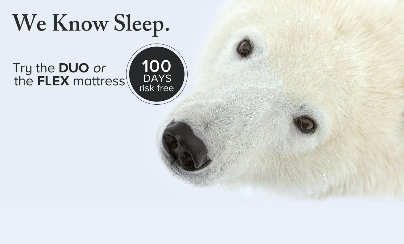 SELECT your sleep awesomeness duo or flex mattress and try it free for 100 days with free shipping