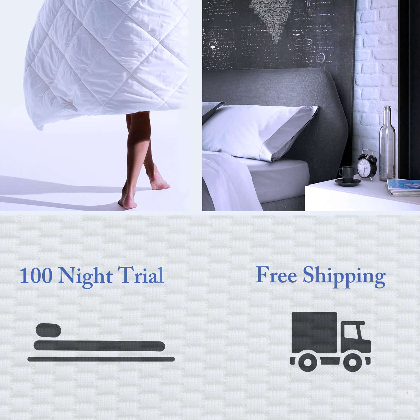 a Sleep AWESOMENESS mattress is so good and comes with 100 days in-home trial, Free Shipping plus a 10 year warranty