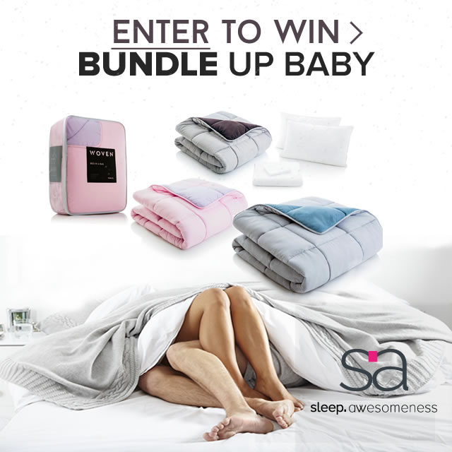 Enter and you're one step closer to winning the bundle up baby contest brought to you by sleep awesomeness and whatsintoday. Enter for a chance to WIN a DUO or FLEX mattress plus a comforter, sheet set & 2 pillows with each mattress - worth $1,,195. Now that's a bundle!