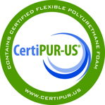 FIN10 mattress certified by Certi-pur® Fabrics are tested by OEKO-TEX®