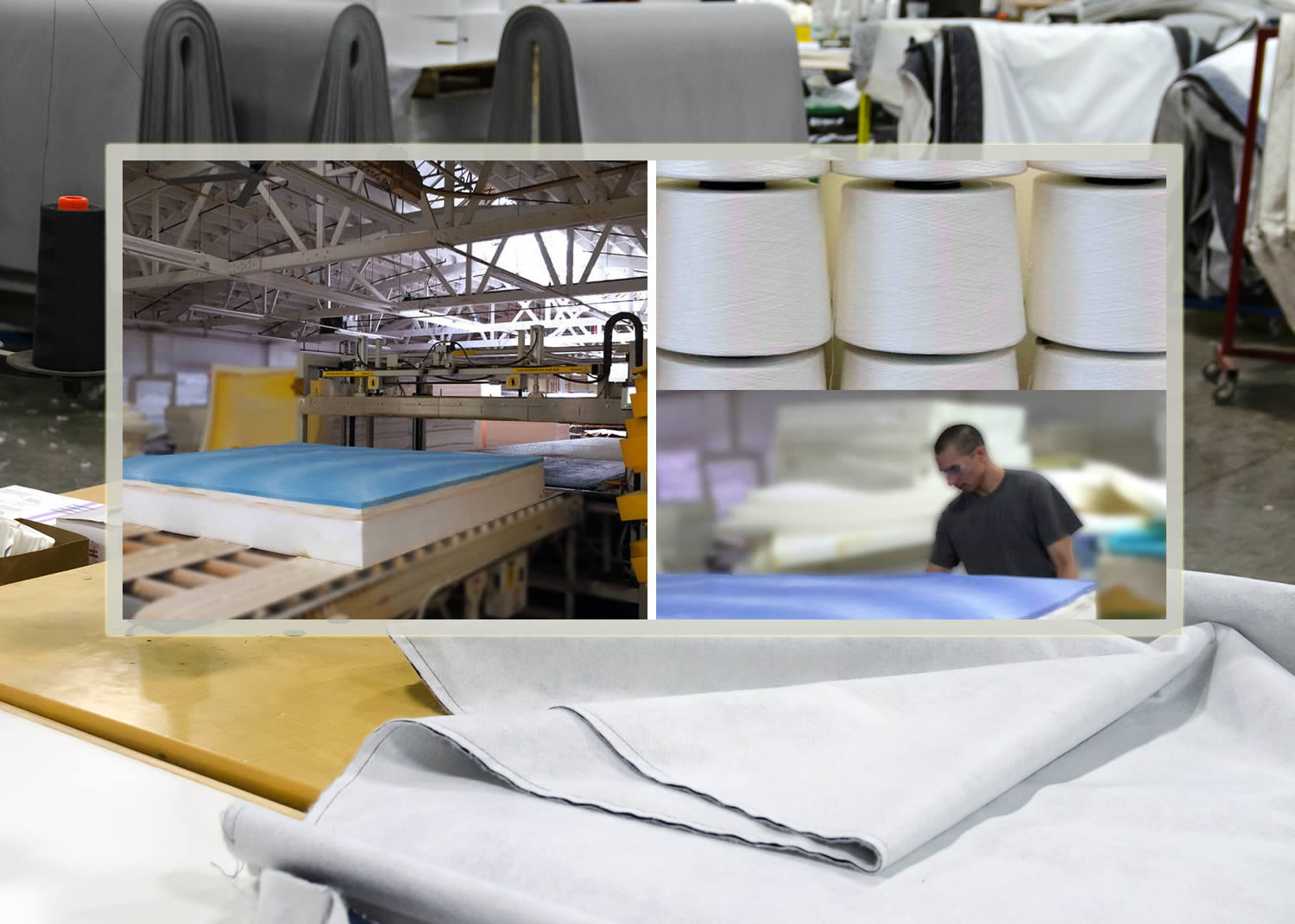 Making the FIN10 Mattress. All Fin mattresses are made in the USA. tHE MEMORY FOAM LATEX AND POCKET SPRINGS ARE 100% made in America. tHERE ARE NO FOREIGN COMPONENTS that GO INTO THE MANUFACTURE OF A FIN mattress