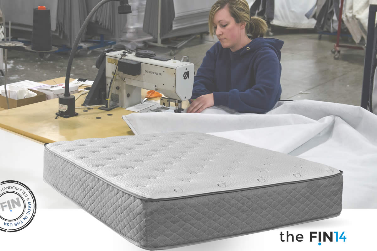 Fin14 Mattress   built in the USA and designed by collaborating with industry experts. Available in models 10-13 inches of PREMIUM materials sourced from the USA. to provide just the right balance of hugs, bounce, coolness, support and feel for a Fintastically awesome sleep. FIN comes in six sizes with Free Delivery & Returns and a forever refresh option. Sleep Happy. Wake up Happy.