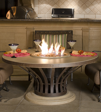 Fire pit and table