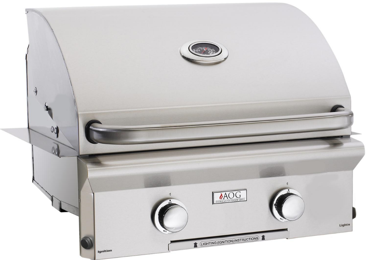 built-in gas grill