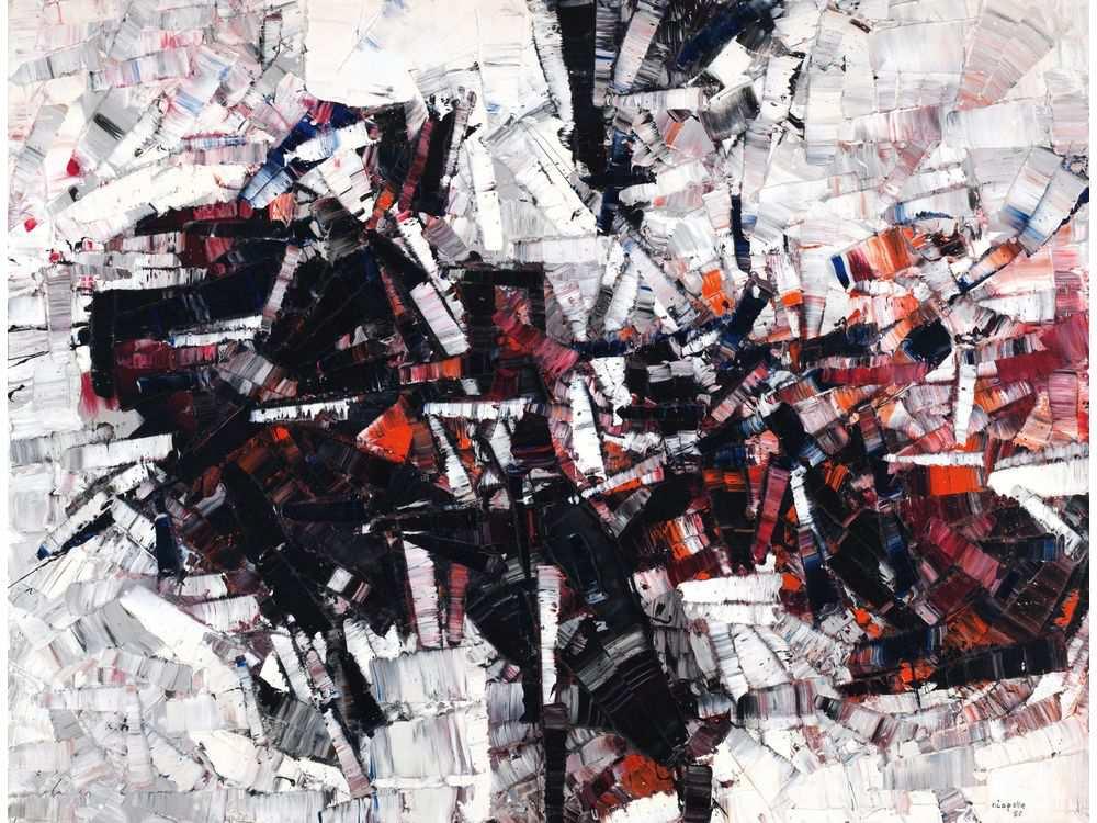 Jean-Paul Riopelle, Composition, 1955