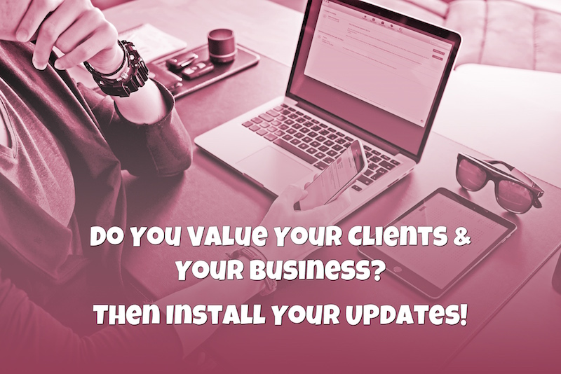 iOS and Mac Software Updates Secure Your Clients and Your Business - Amazing Andrea