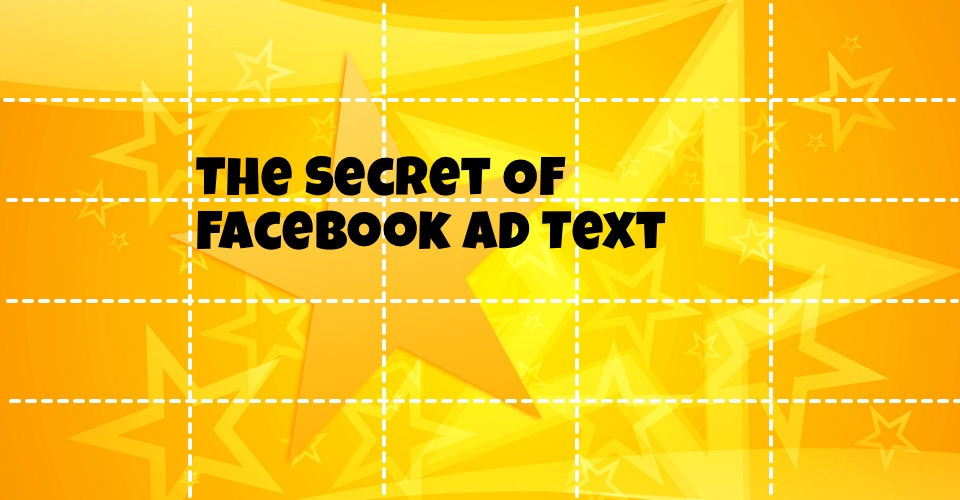 """Text fits within 5 rectangles, but the dashes cause confusion. Rejected by Facebook for """"too much text""""."""