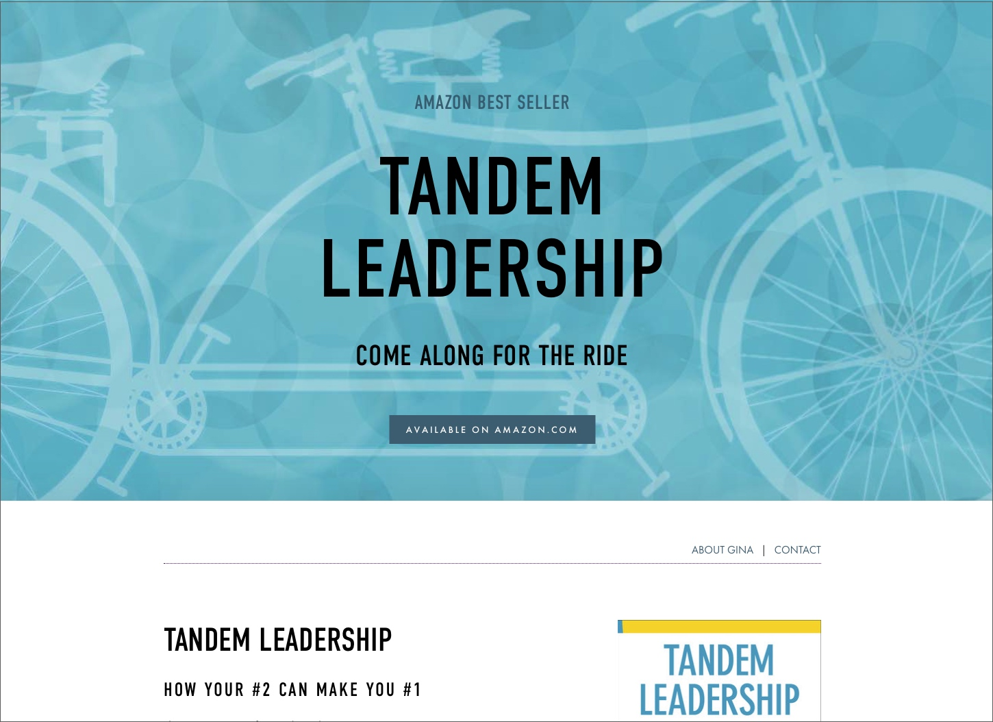 Tandem Leadership Book