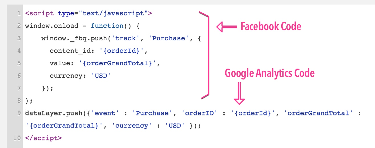 """Squarespace Order Variables """"Pushed"""" to Facebook and Google"""