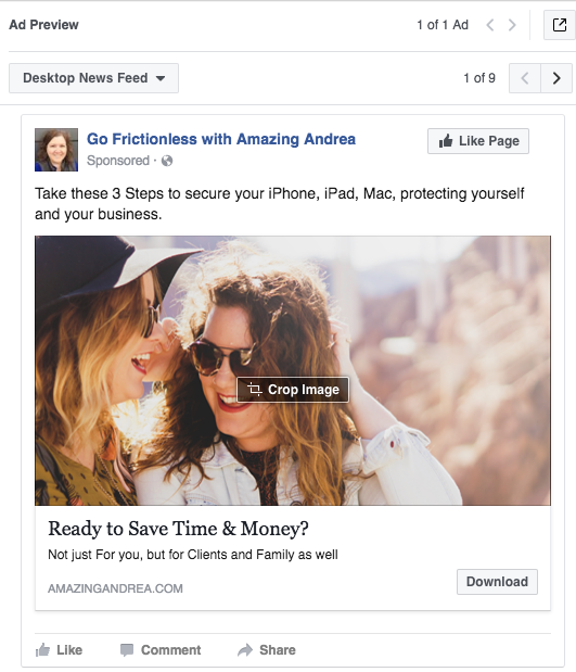 Sample: Facebook Ad