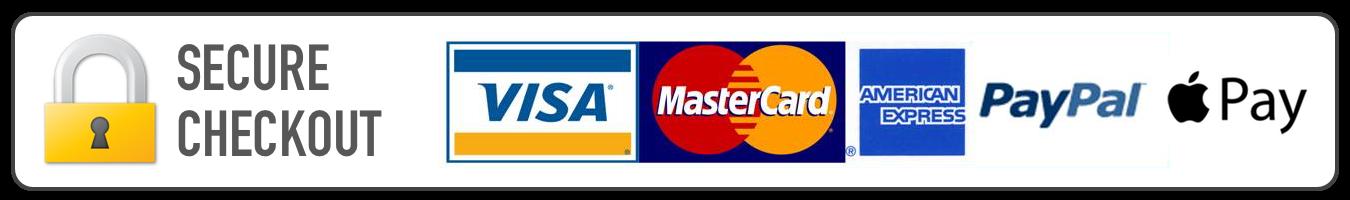 Secure-Checkout-Visa-Mastercard-Amex-PayPal-Apple-Pay