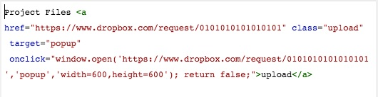 The Code Block should look similar to this, with TWO instances of your URL.