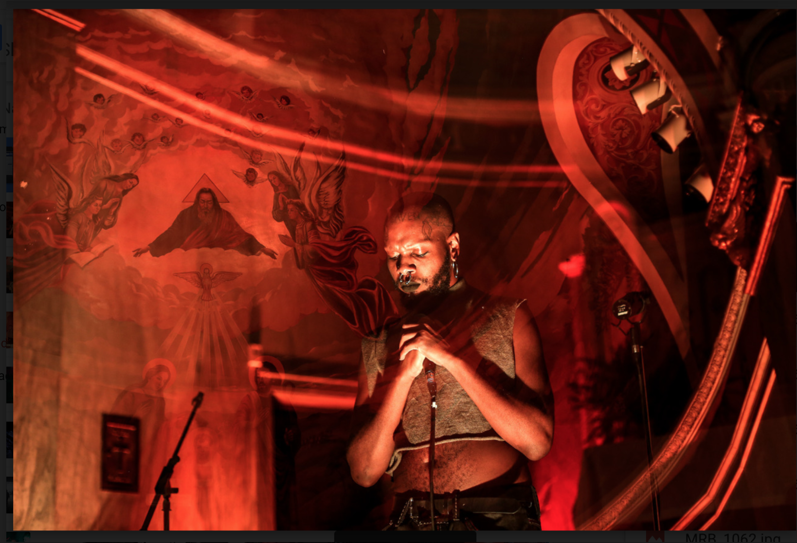 Luis Nieto Dickens, Serpentwithfeet performing at San Damiano Mission, Brooklyn (The Lot Radio) , September 2016