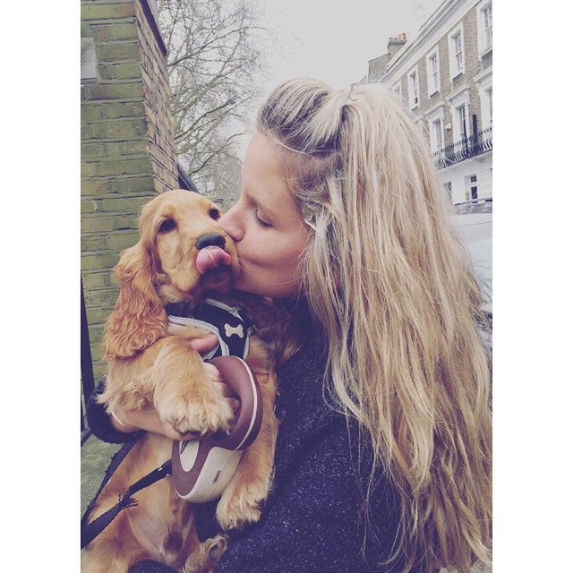 Fay with her gorgeous little pooch