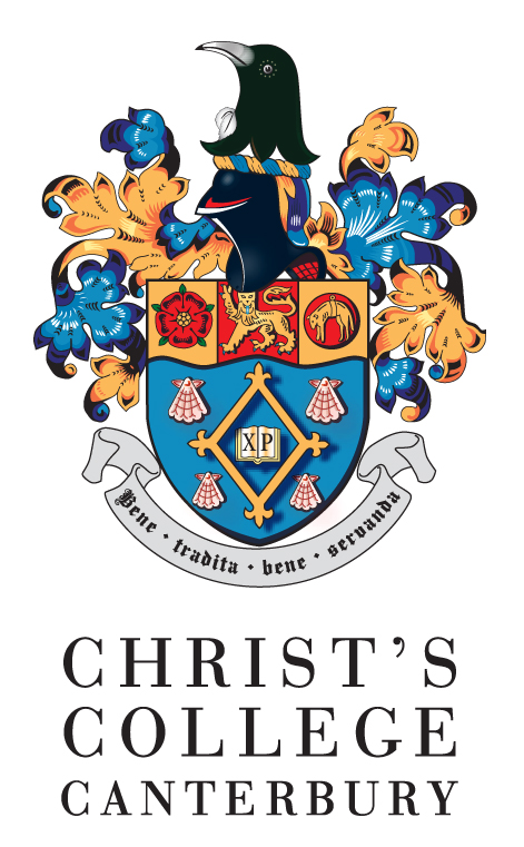 Christs College Canterbury text with Crest.jpg