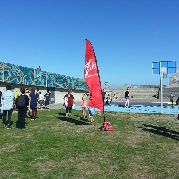 Thanks to everyone who celebrated the completion of the Re:ACTIVATE 2018: New Brighton artworks with us tonight. More photos tomorrow!  @developmentchristchurch @canterbury_wildcats @ilovenewbrighton @newbrightonfarmersmarket  #basketball #wallmural #art #christchurchnz #scapeart #streetart #publicart #streetartchristchurch #newbrighton #seaside #pier #colours #inspirational #celebration
