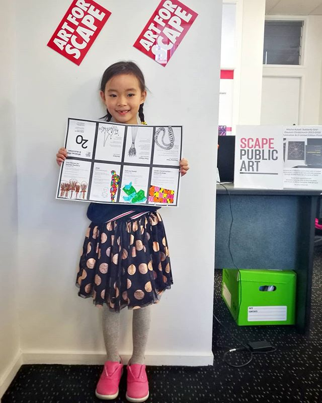 Our very own Alice Zhu's little girl, Zoe, visiting the office today  #holiday #SCAPEArt #coolmum
