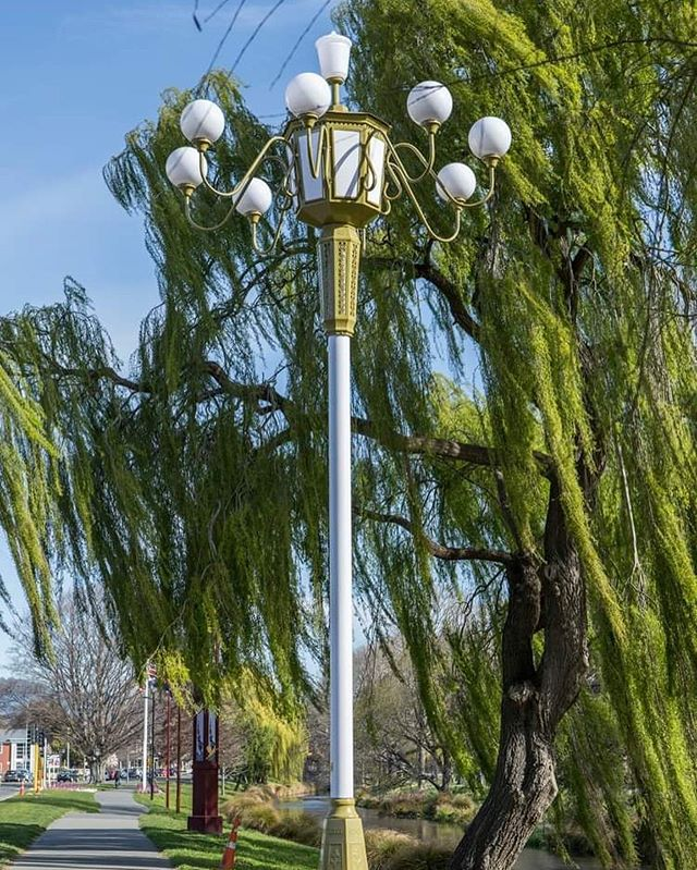 DAY ONE of our #21DaysOfSolidarity countdown: Gansu, China 🎏 This elaborate, energy efficient and traditional Chinese-style lamp was donated by the Gansu Province to commemorate the 30 year Christchurch-Gansu Sister City relationship, as well as to show support after the 2011 earthquake. The sister city relationship was established by Rewi Alley, a Cantabrian who dedicated 60 years of his life helping improve the standard of living for the Chinese people following World War One. Gansu province is located in the northwest of China, and the Yellow River flows through the south of the province with street lamps of the same design being prominent fixtures along its banks 🏞  We are grateful for the gifting of this beautiful lamp and the unity is it representative of ❤️ . . . . . . #scapeart #artmatters #publicart #lamps #pathways #china #solidarity