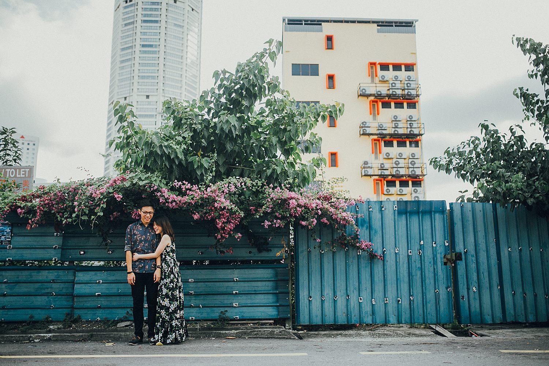 romantic couple enjoying in public