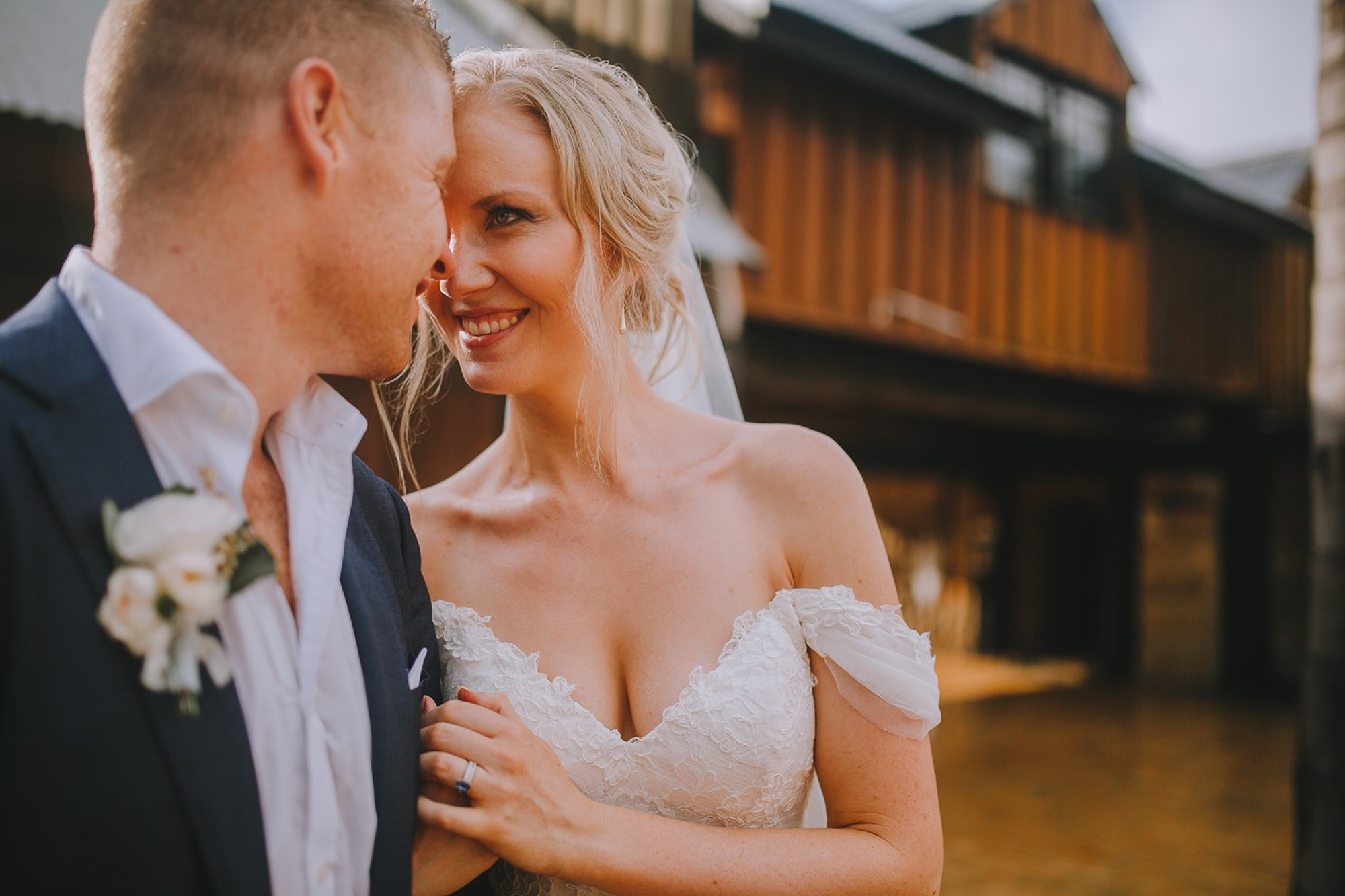 The first steps to feeling comfortable in your wedding photos.