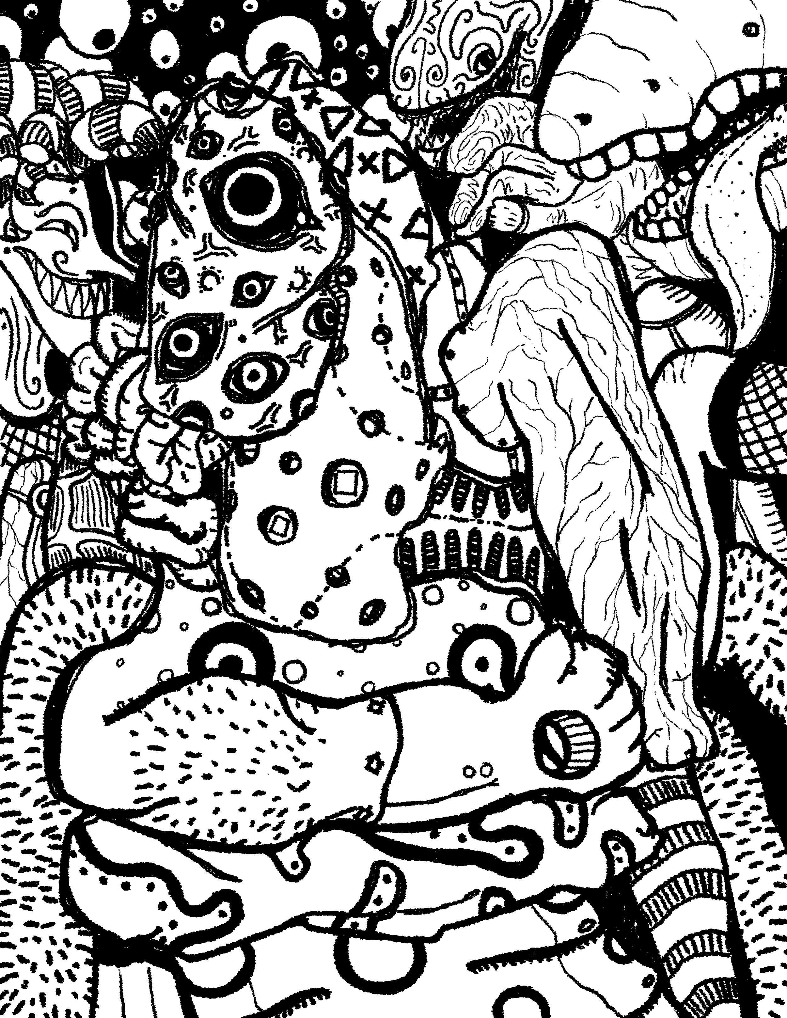 Schizophrenia - Digital Art - 2015