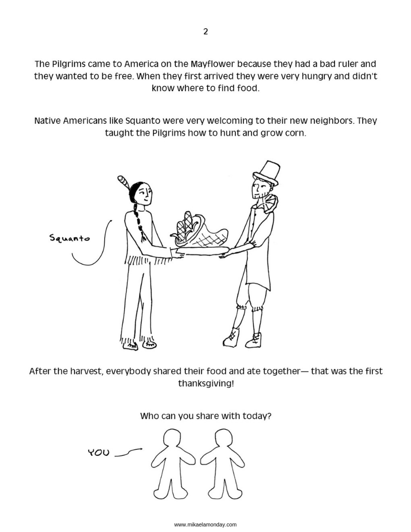 Thanksgiving and Immigration Coloring Page 2 #thanksgiving #freecoloringpage #immigration #pushandpullfactors
