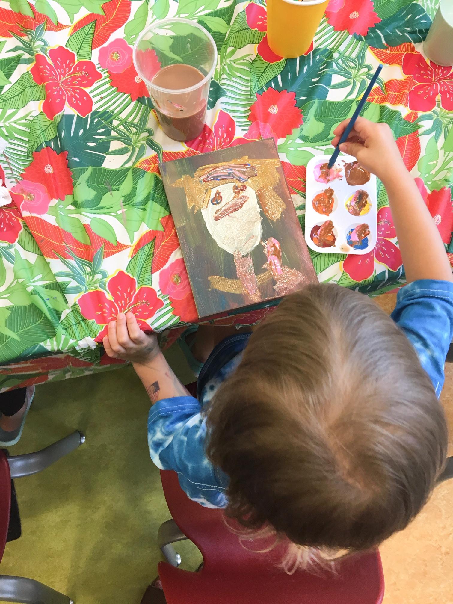 Paint a Selfie with Frida Kahlo #fridakahlo #kidsart #kidscraft #library #childrenslibrary