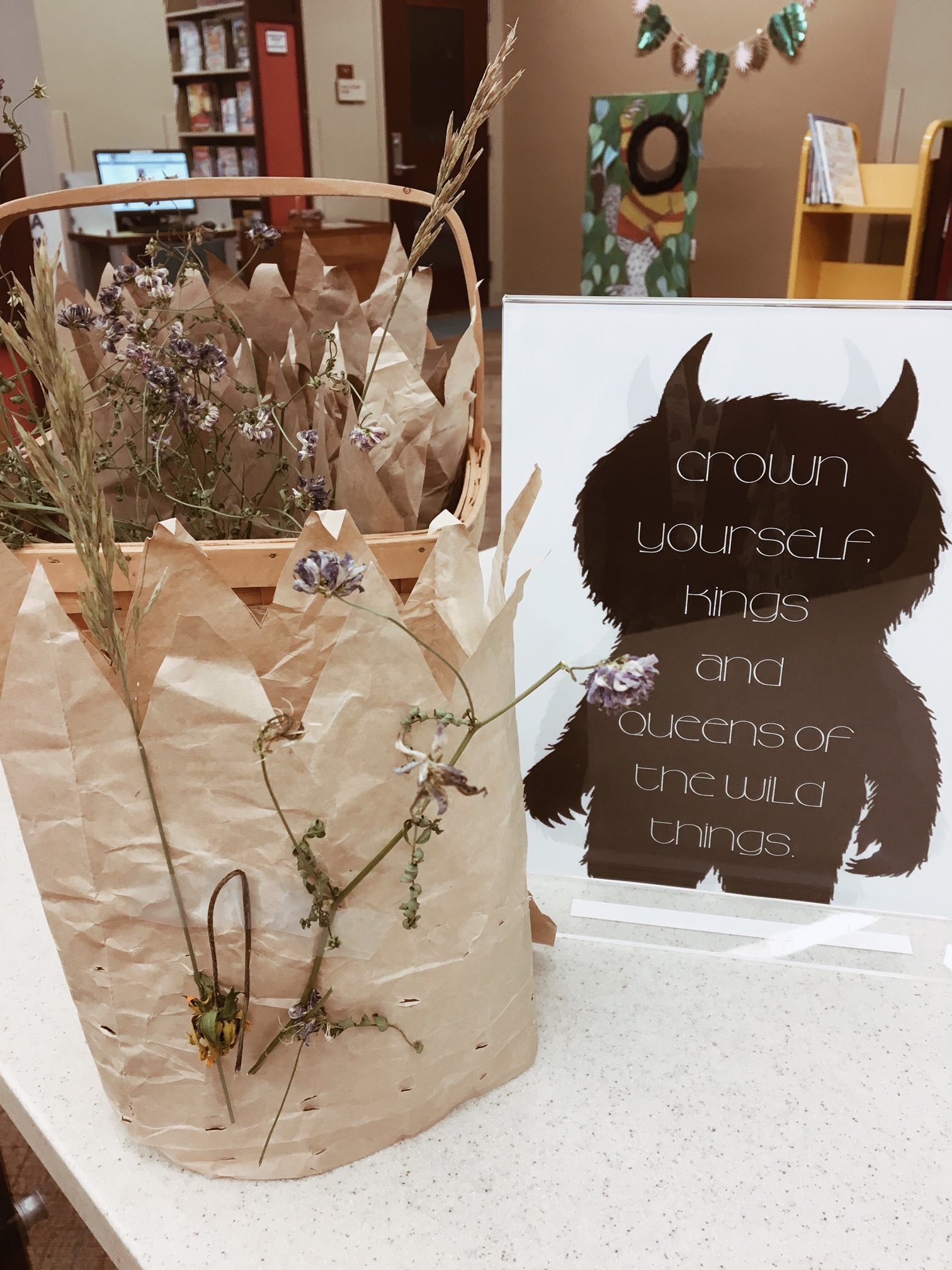 """""""Where the Wild Things Are"""" Movie Night #wherethewildthingsare #kidscraft #library #childrenslibrary"""