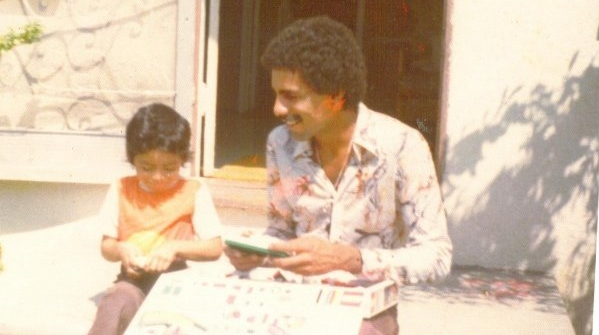 With my Father, Gilbert Saucido, 1970's.
