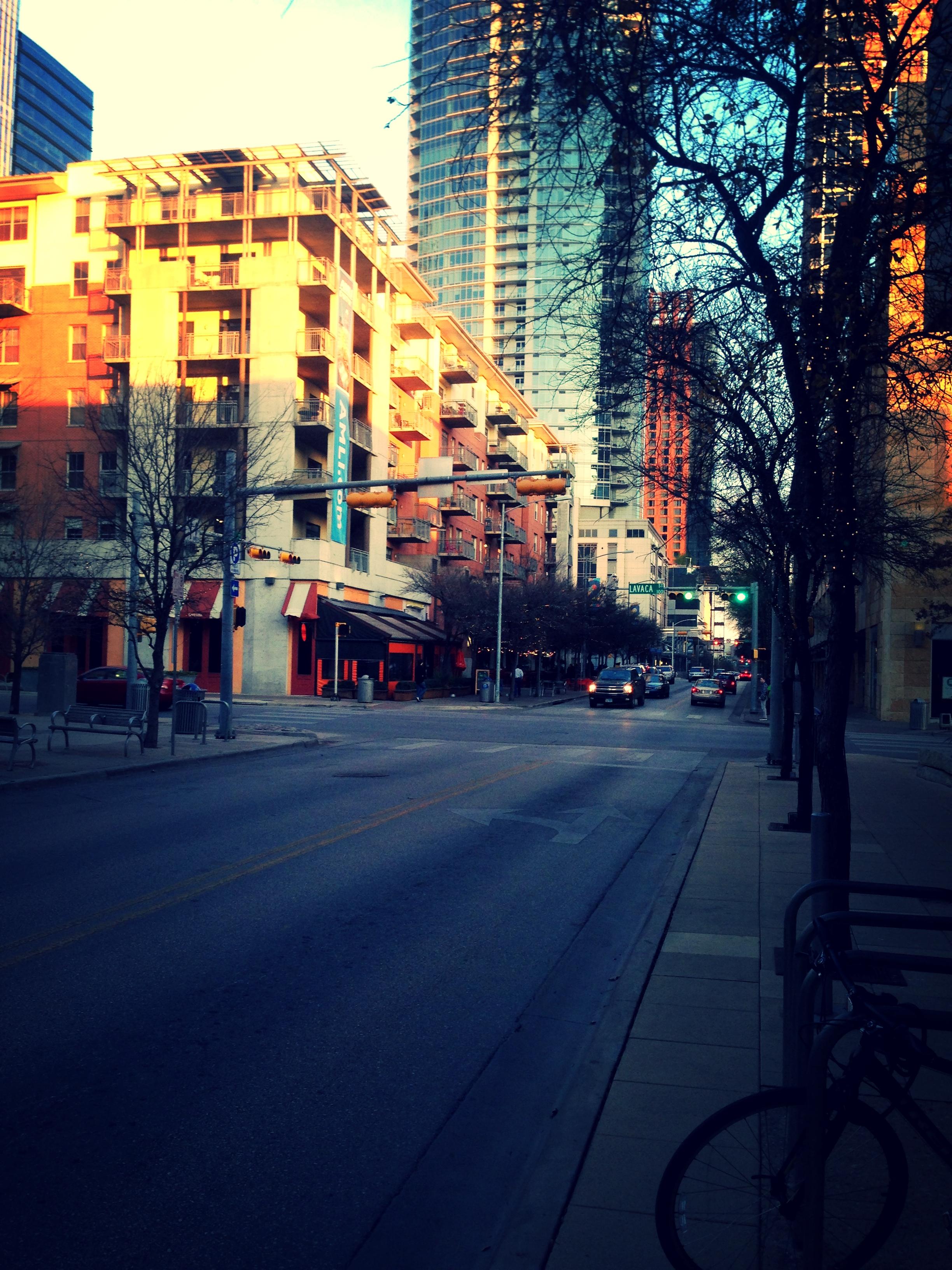 Downtown Austin, magic time.